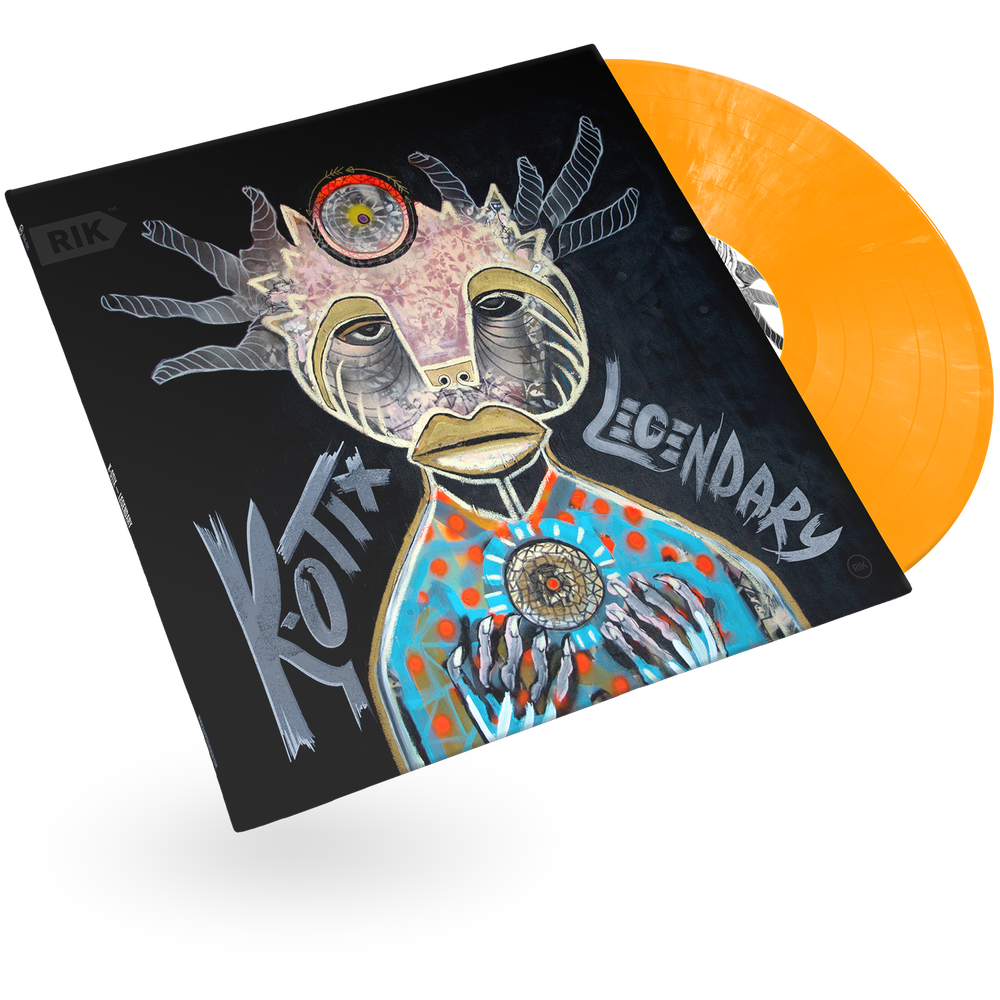 Image of K-otix — Legendary LP (Orange Marble)
