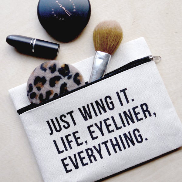 Image of Just Wing It - Cute Printed Makeup Pouch