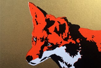Image of Fox on paper - 4TH Edition Screenprint