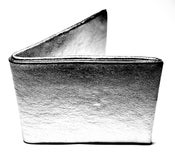 Image of Silver leather wallet