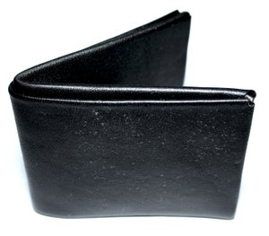 Image of Black leather wallet
