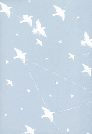 Image of Star-ling Wallpaper - Powder Blue