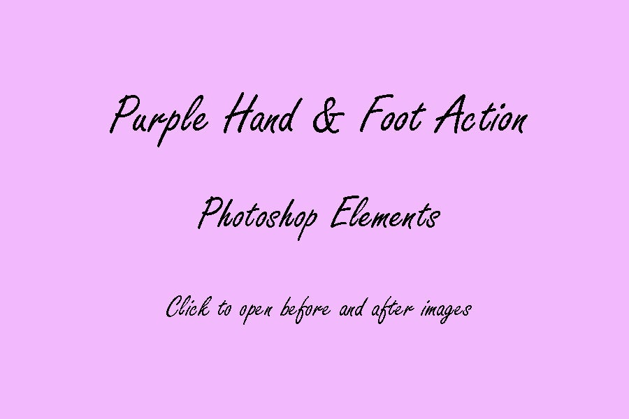 Image of PS Elements : Purple Hand and Foot © Son Kissed Photography