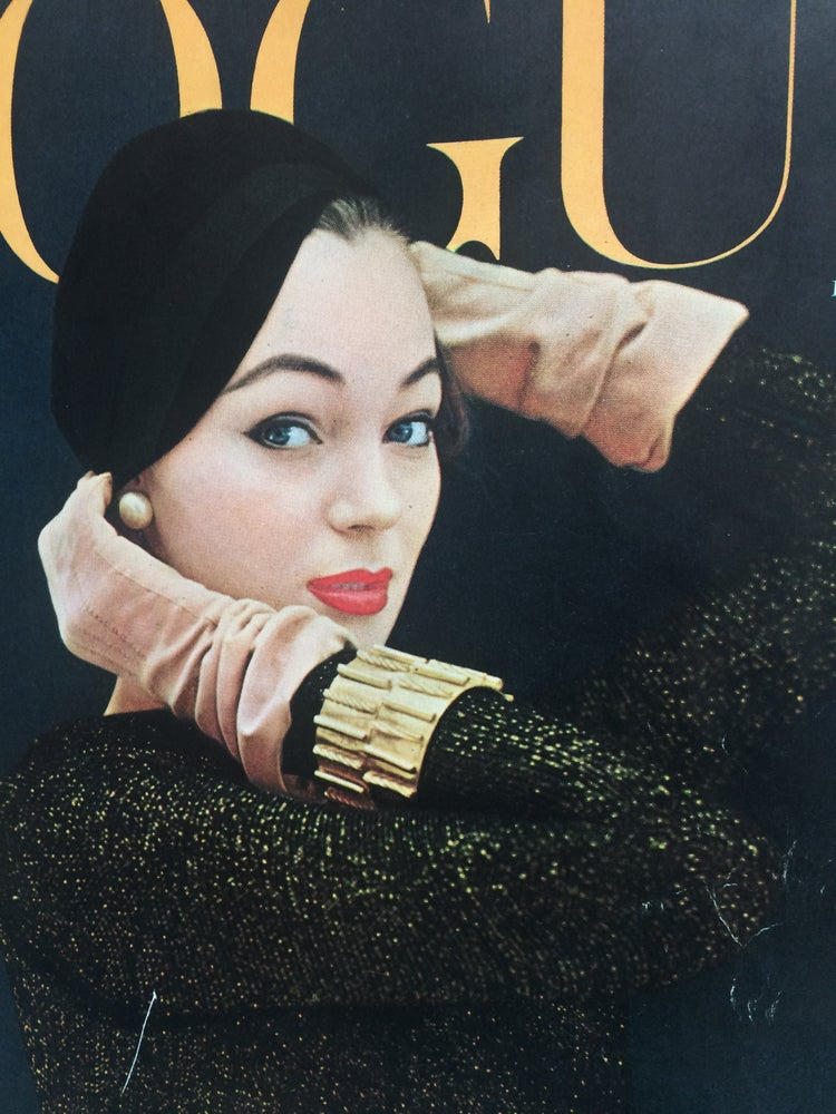 Image of Jacques Fath French Vogue Cover 1954 featuring Ivy Nicholson by Erwin Blumenfeld
