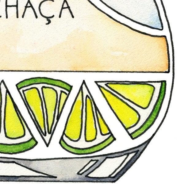 Image of Caipirinha Cocktail Art Print