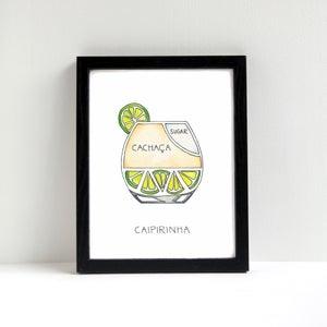 Caipirinha Cocktail Art Print by Alyson Thomas of Drywell Art. Available at shop.drywellart.com