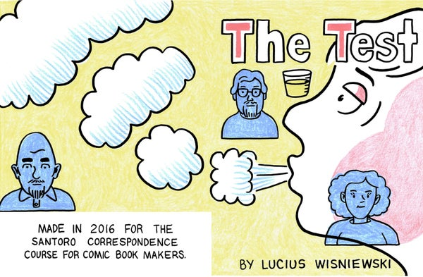 "Image of ""The Test"" mini-comic"