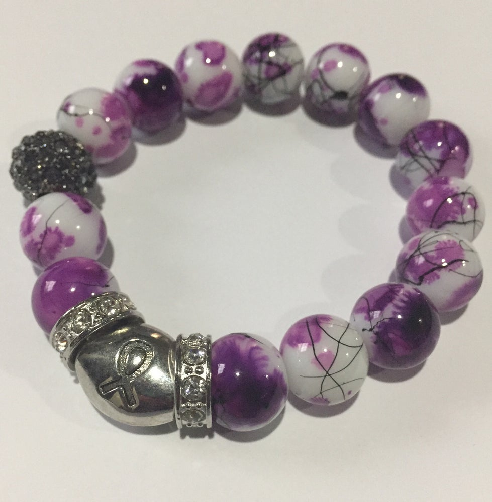 Image of Purple Awareness Bracelet 2