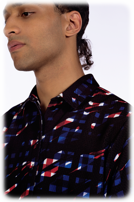 Image of 50% OFF - Short Sleeve Shirt - Splashed Check