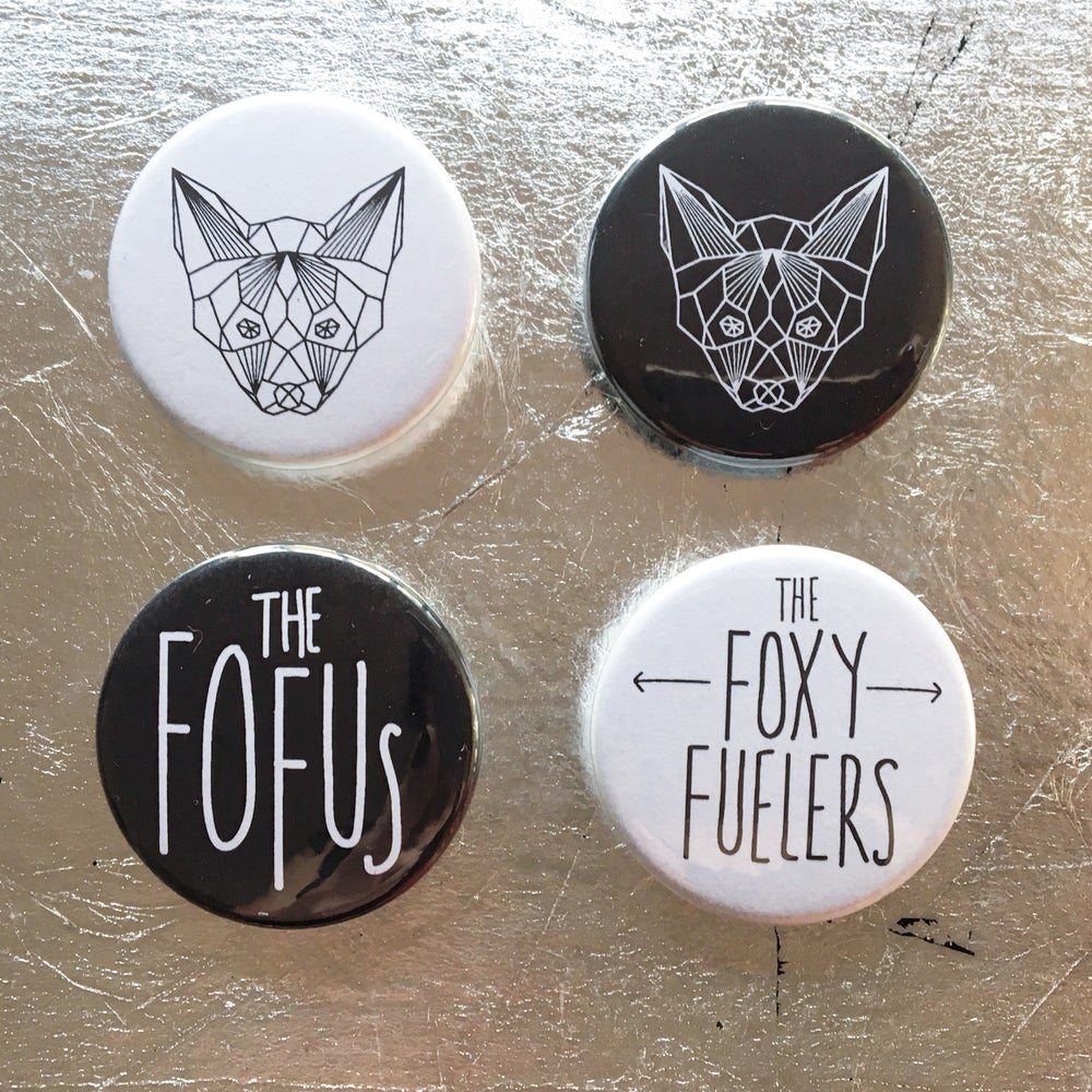Image of Foxy Badge pack - White & Black