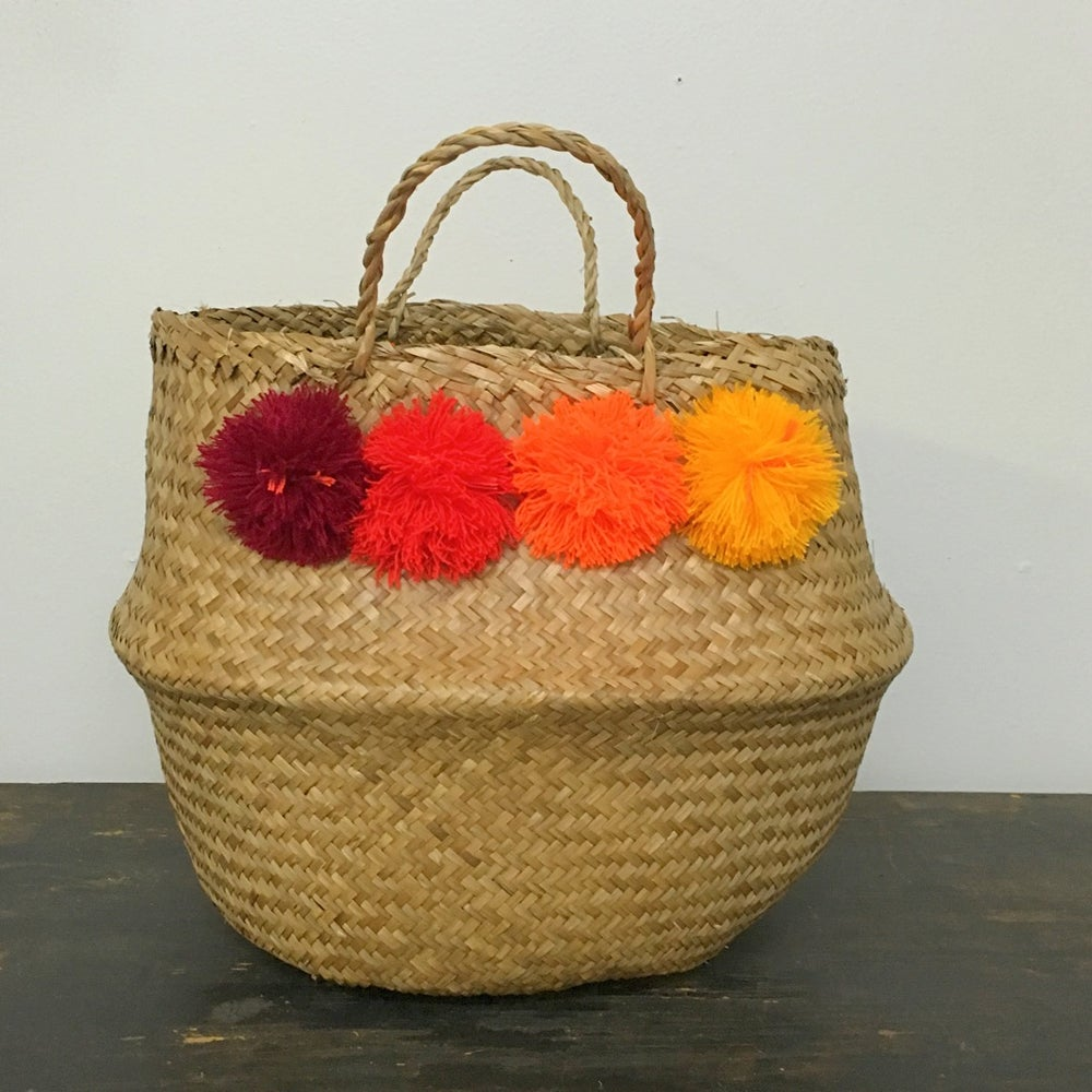 Image of venice basket - orange ombre medium