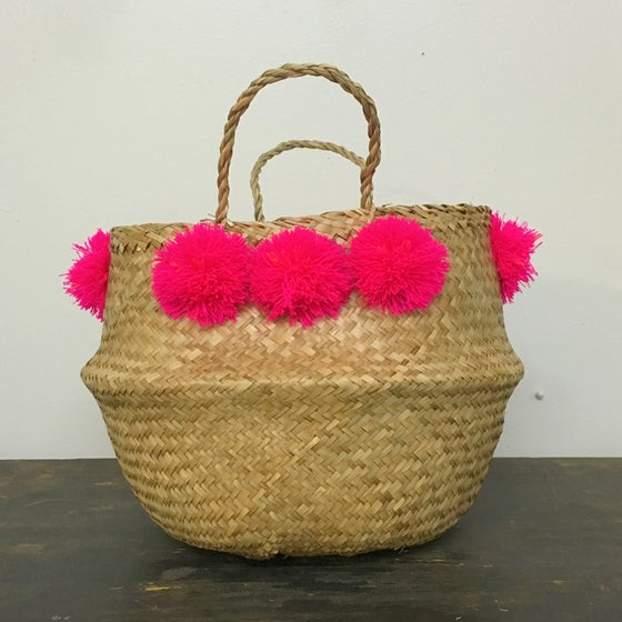Image of venice basket - fuchsia medium