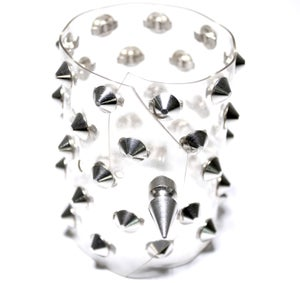 Image of Clear metal studded cuff
