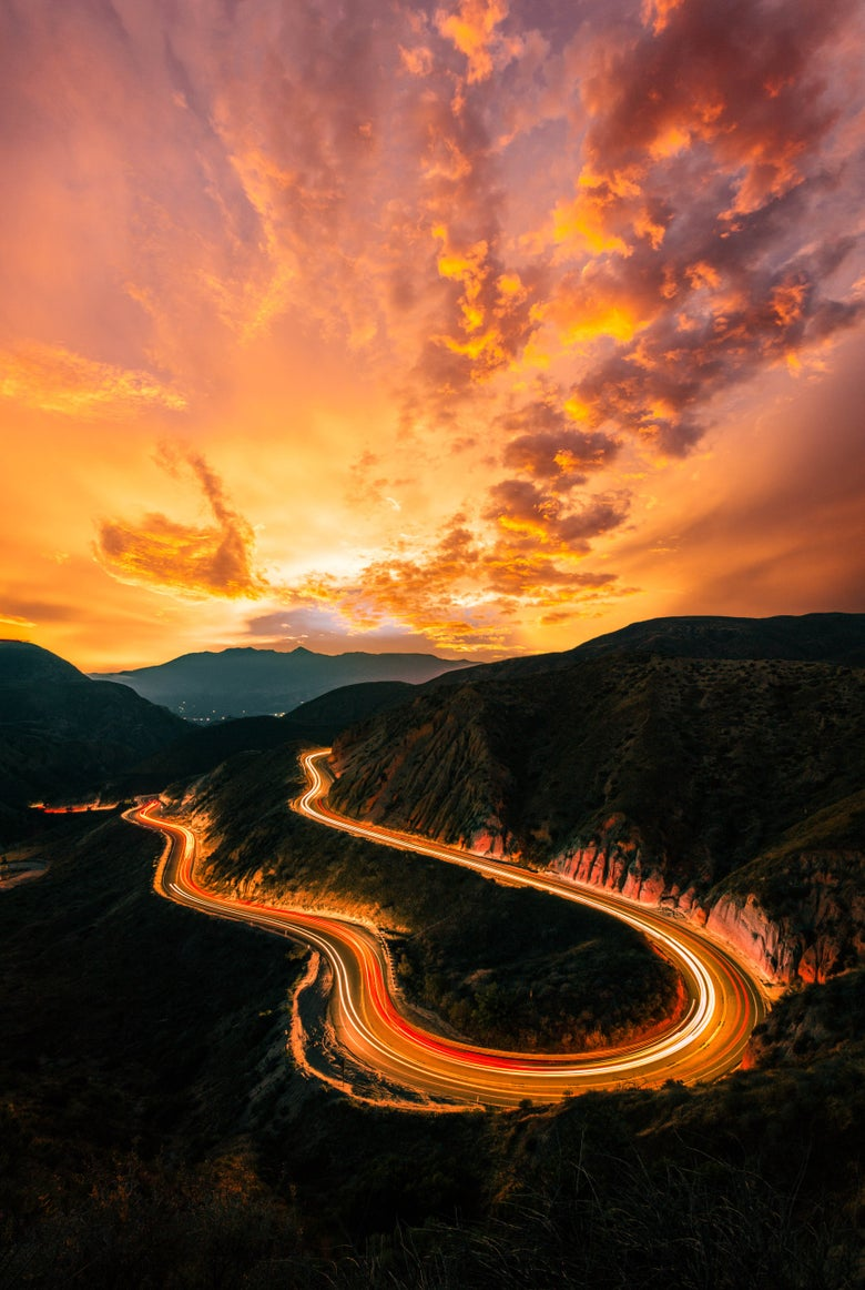 Image of sunset @ the canyon - print