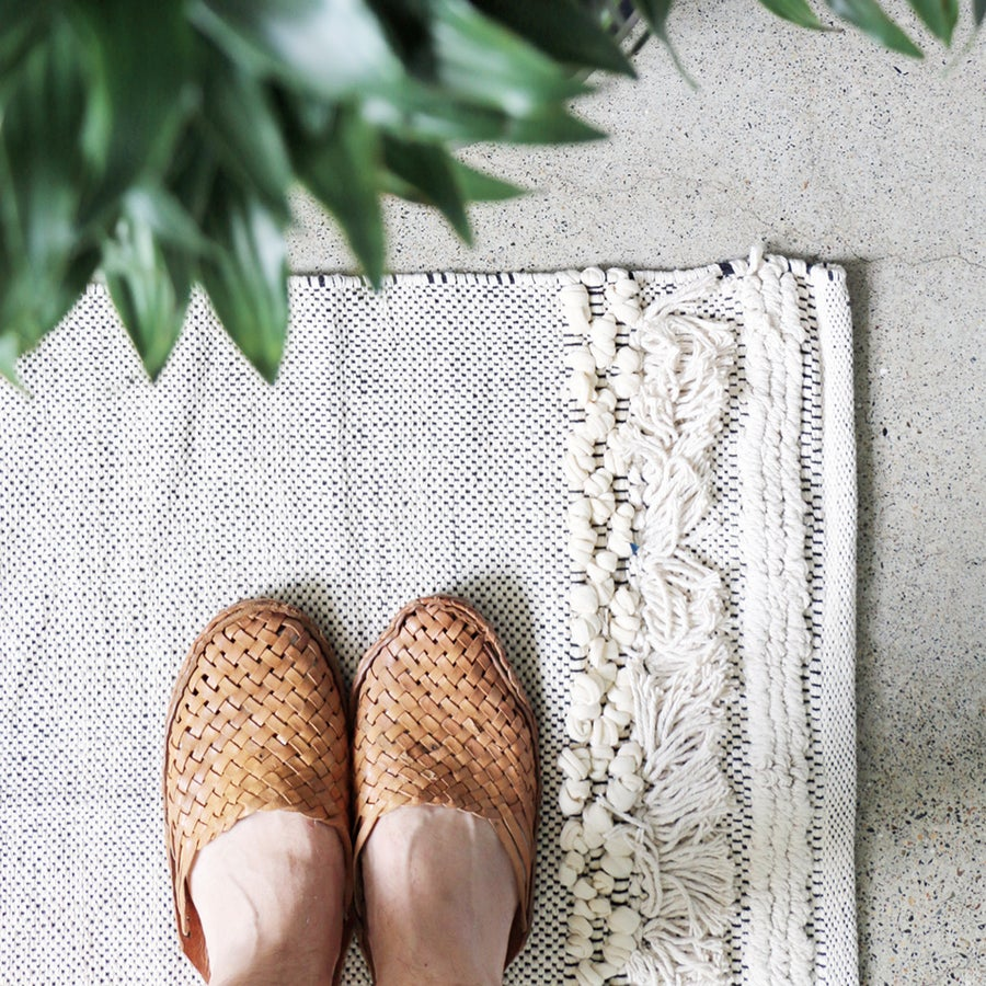 Image of Luxe Fringe Floor Mat