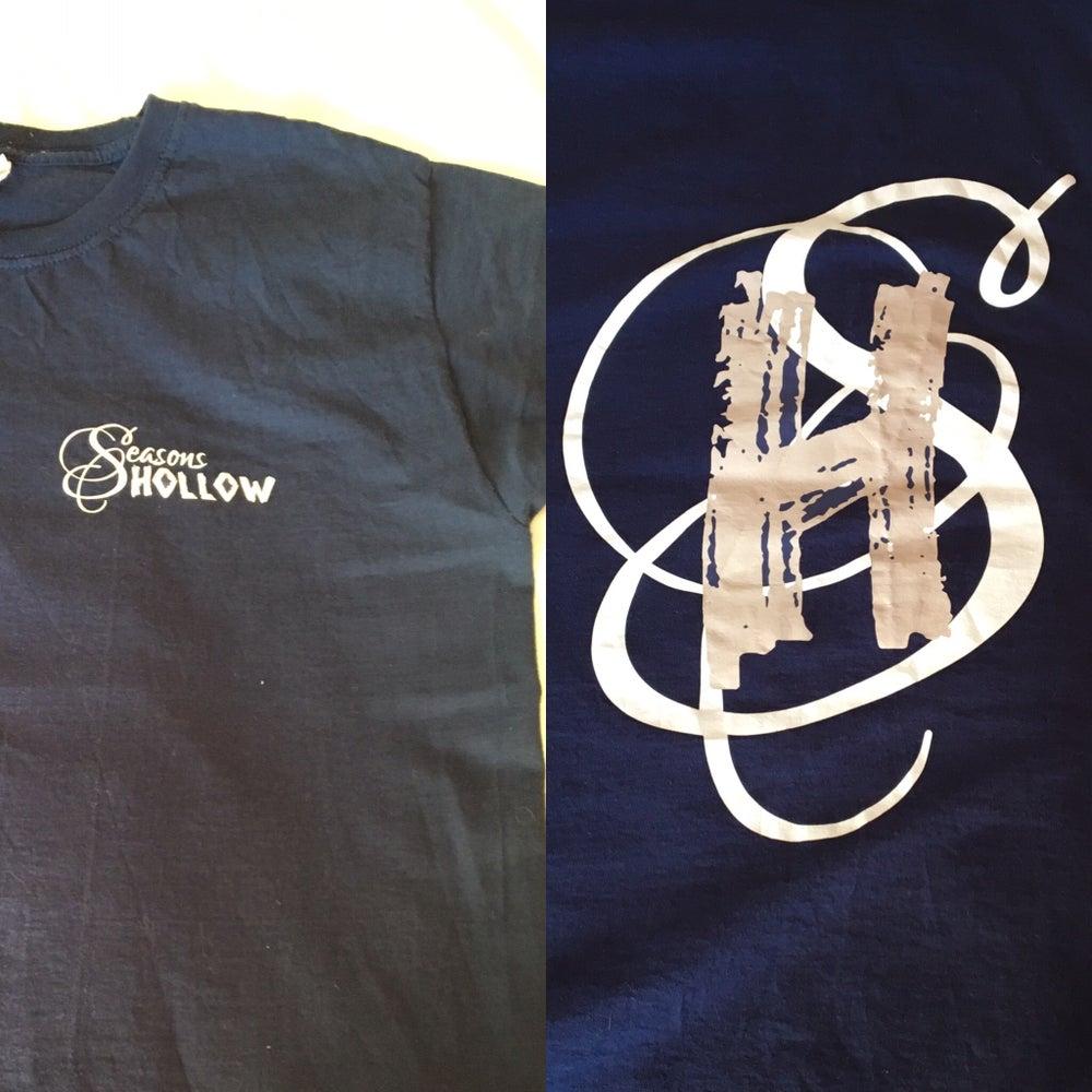 Image of Seasons Hollow Logo Tshirt - Blue