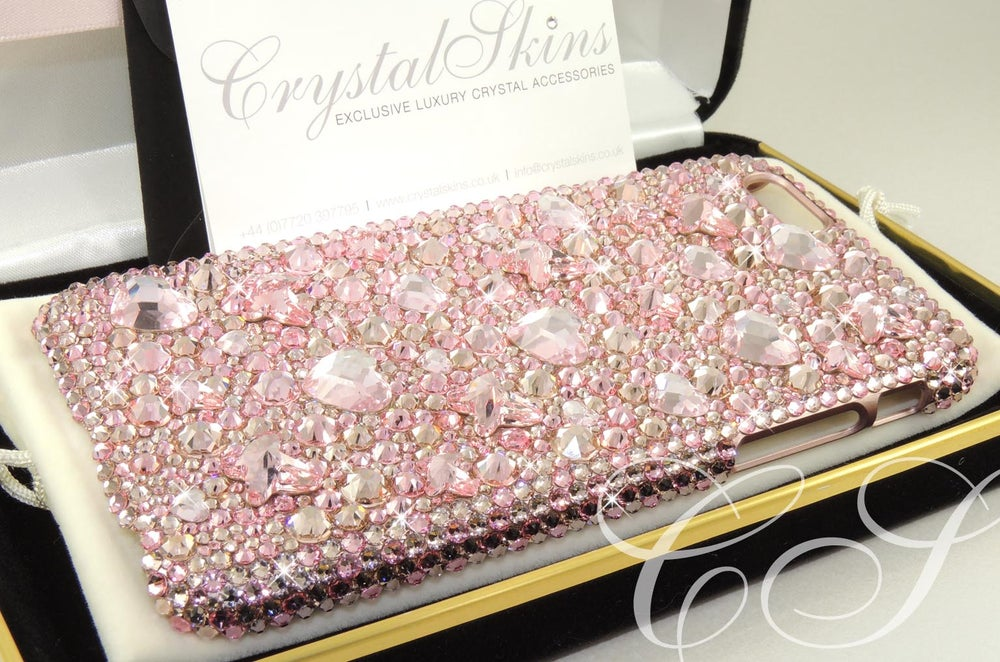 Image of 'Butterfly Kiss' in Vintage Rose for the iPhone & Samsung Range with Crystals By Swarovski®
