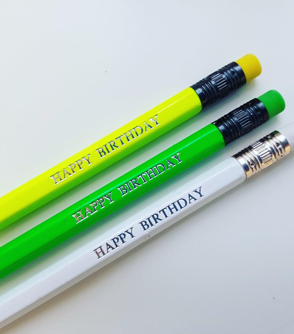 Image of Happy Birthday Pencil
