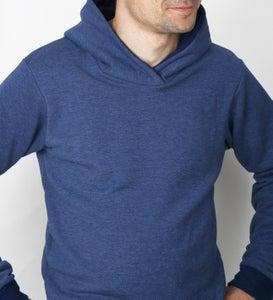 Image of Hoodie blau meliert - recycled