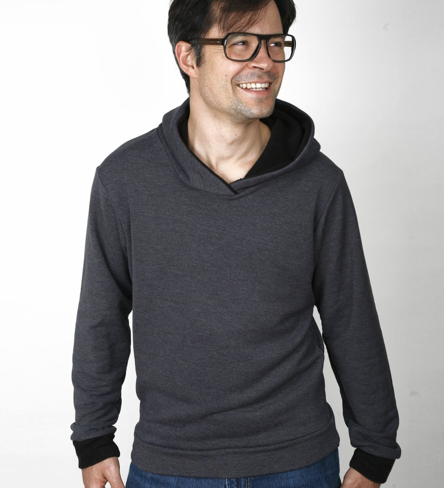 Image of Hoodie anthrazit meliert - recycled