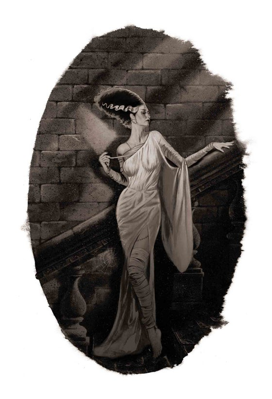 Image of Bride of Frankenstein Black & White Variant EDITION No. 0/10