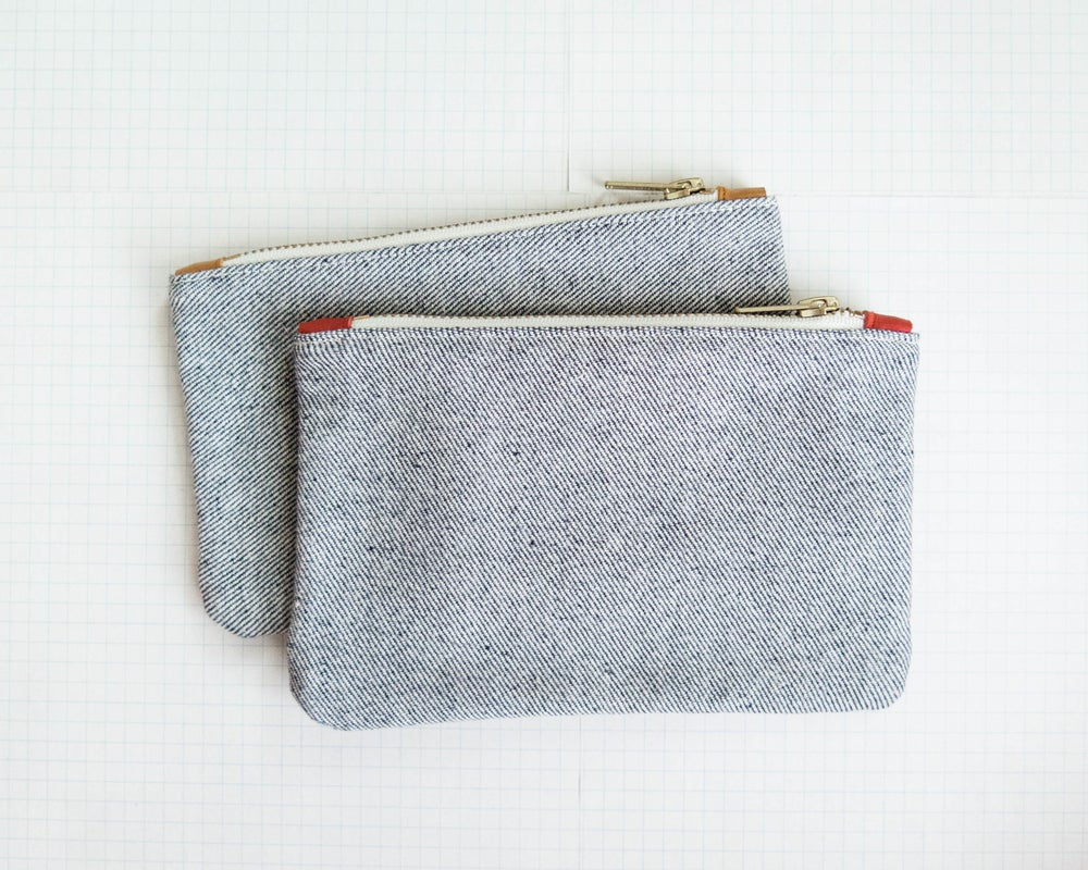 Image of vintage denim // pouch