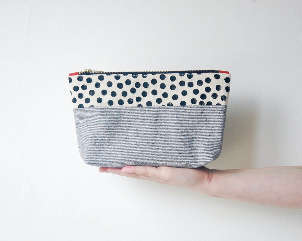Image of dots and denim // clutch