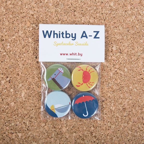 Image of Whitby A-Z Badge Set