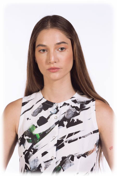 Image of Sleeveless A-Line Dress - Painted Rocks
