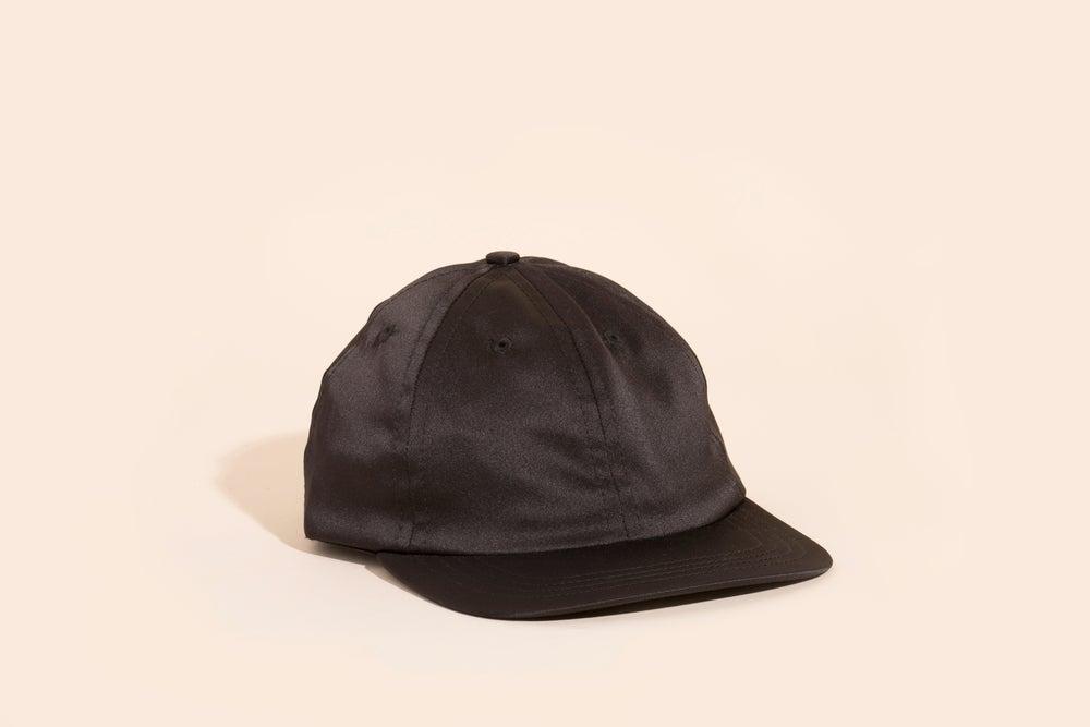 Image of Ball Cap - Black Satin