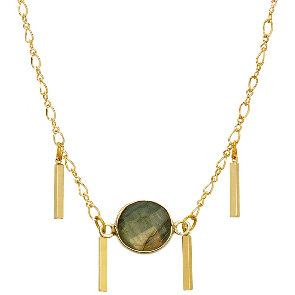 Image of LABRADORITE CHOKER NECKLACE
