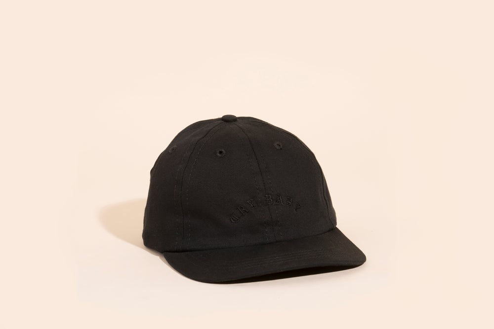 Image of Ball Cap - Black Canvas Black Embroidery - Cry Baby