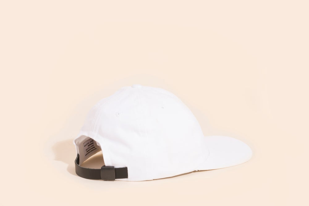 Image of Ball Cap - White Canvas White Embroidery - Cry Baby