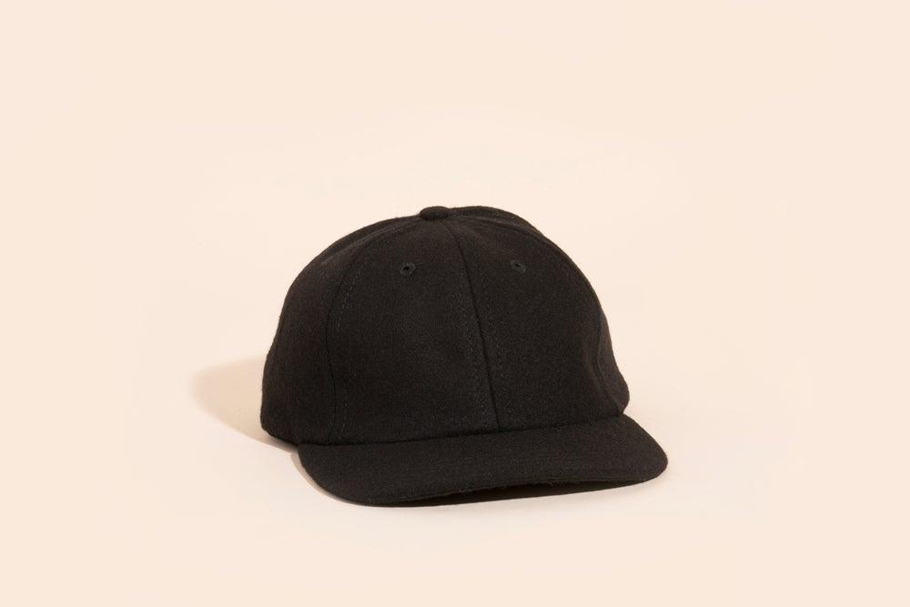 Image of Ball Cap - Blank Black Wool
