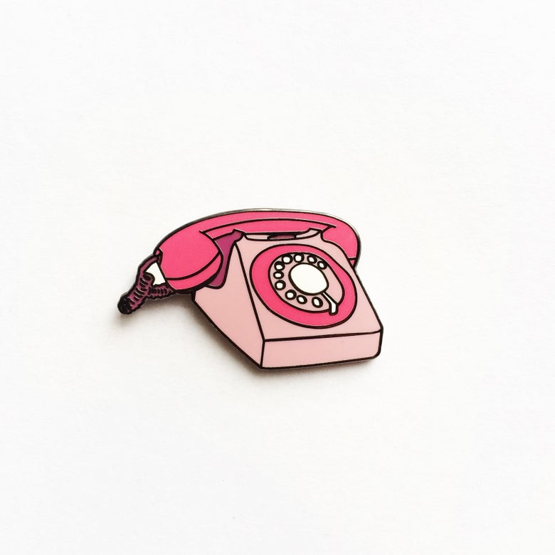 Image of Phone Enamel Pin