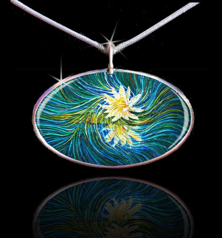 Image of White Lily Divine Light Energy Pendant
