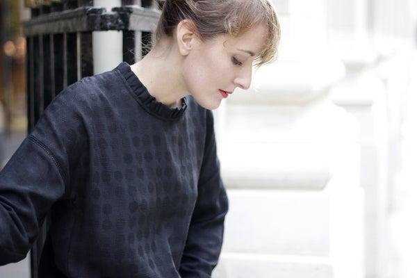 Blouse Claudia noire - Maison Brunet Paris