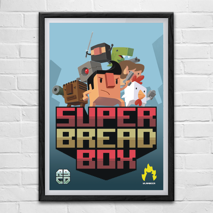 Image of Super Bread Box (A2/A3 Poster Bundle) (Commodore 64)