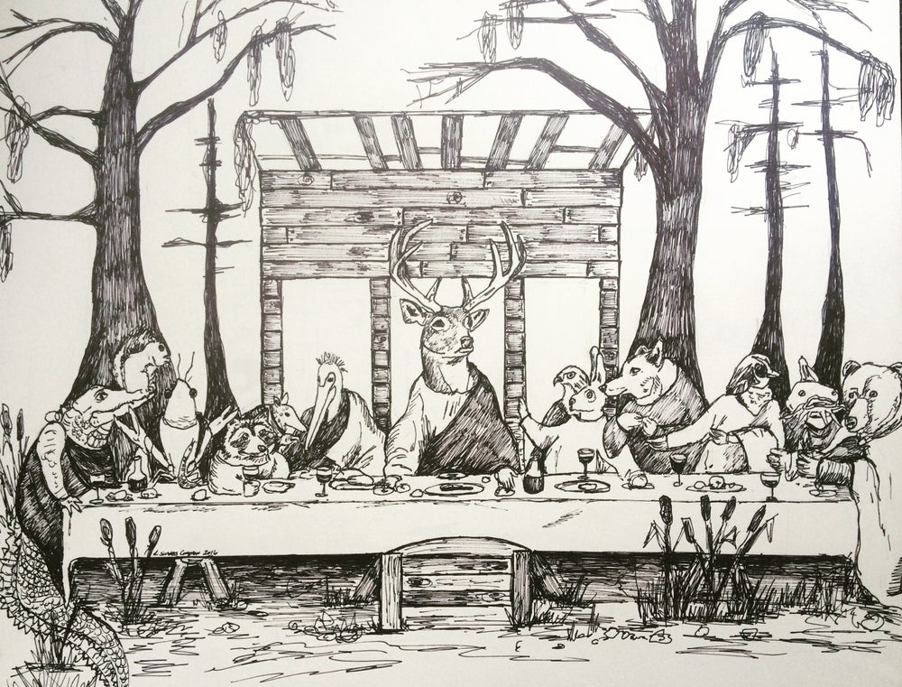 Image of Adult Last Supper Short Sleeve Tee