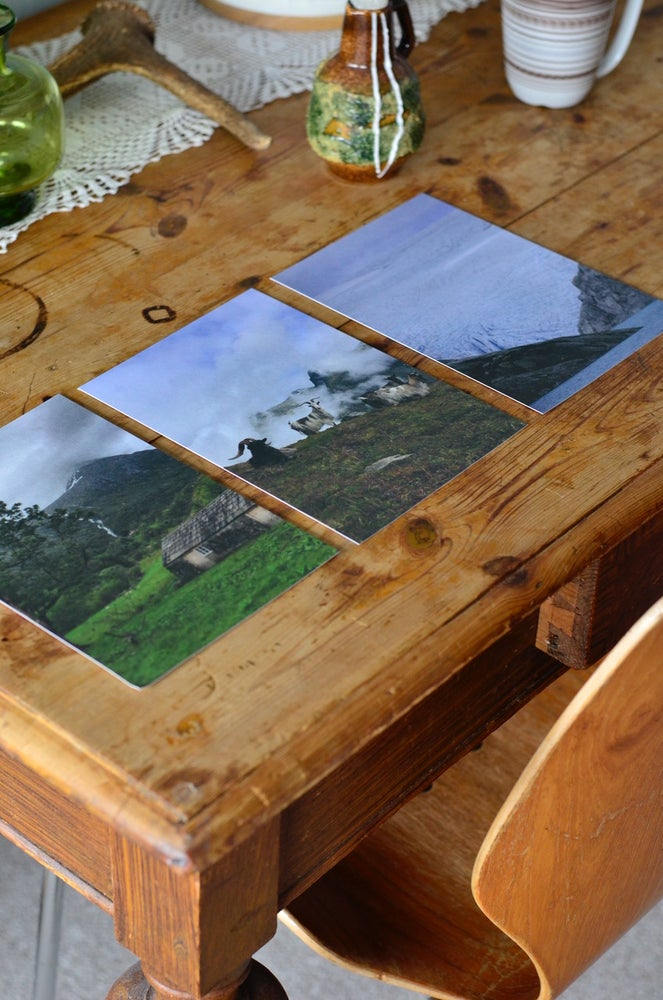 Image of 3 pk. large postcards. A5 270g recycled matte paper.