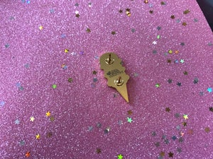 Image of Ice Cream Cone Enamel Pin (Dark)