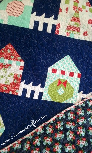 Image of Paper Pattern Christmas Lane