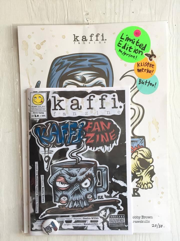Image of kaffi fanzine Vol.#09 (2016) Limited Edition w/ A4-print + Button!