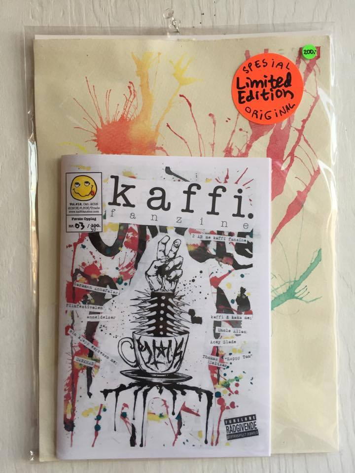 Image of kaffi fanzine Vol.#12 (2016) Special Limited Original Edition w/ A4 Original Painting!