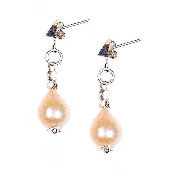 Image of PEARL DROPLET ON THE LOUVRE EARRINGS