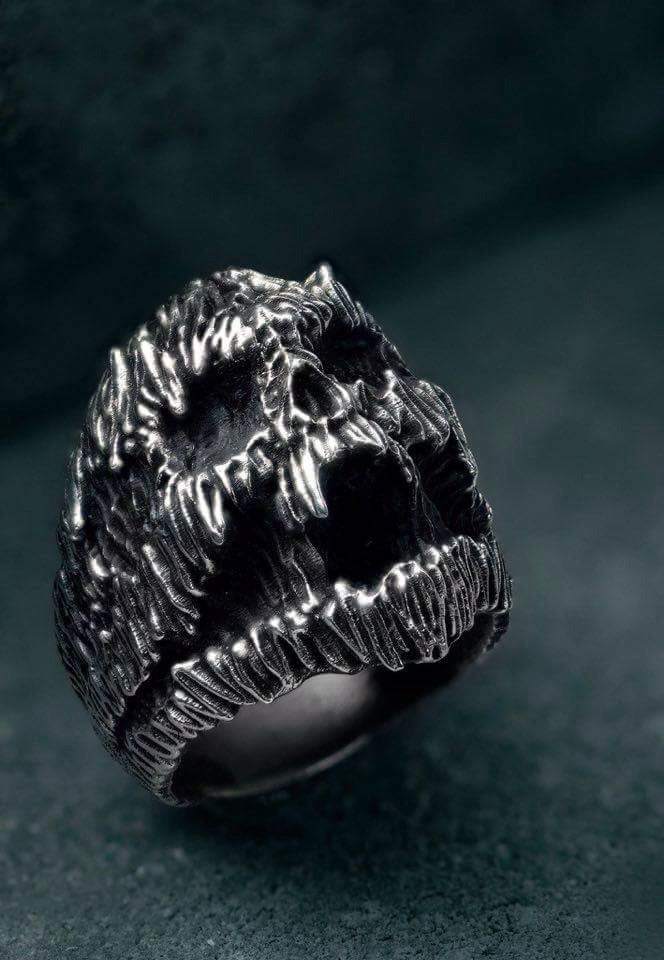 """Image of Limited Edition Intenebris X Stanislav """"PAIN"""" Ring in 925 sterling silver"""