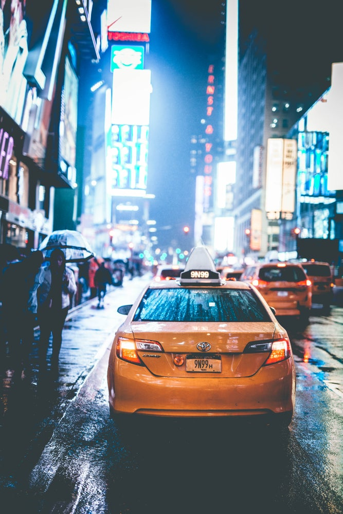 Image of new york city taxi - print