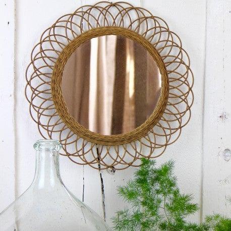 Image of Miroir Soleil Fleur Vintage
