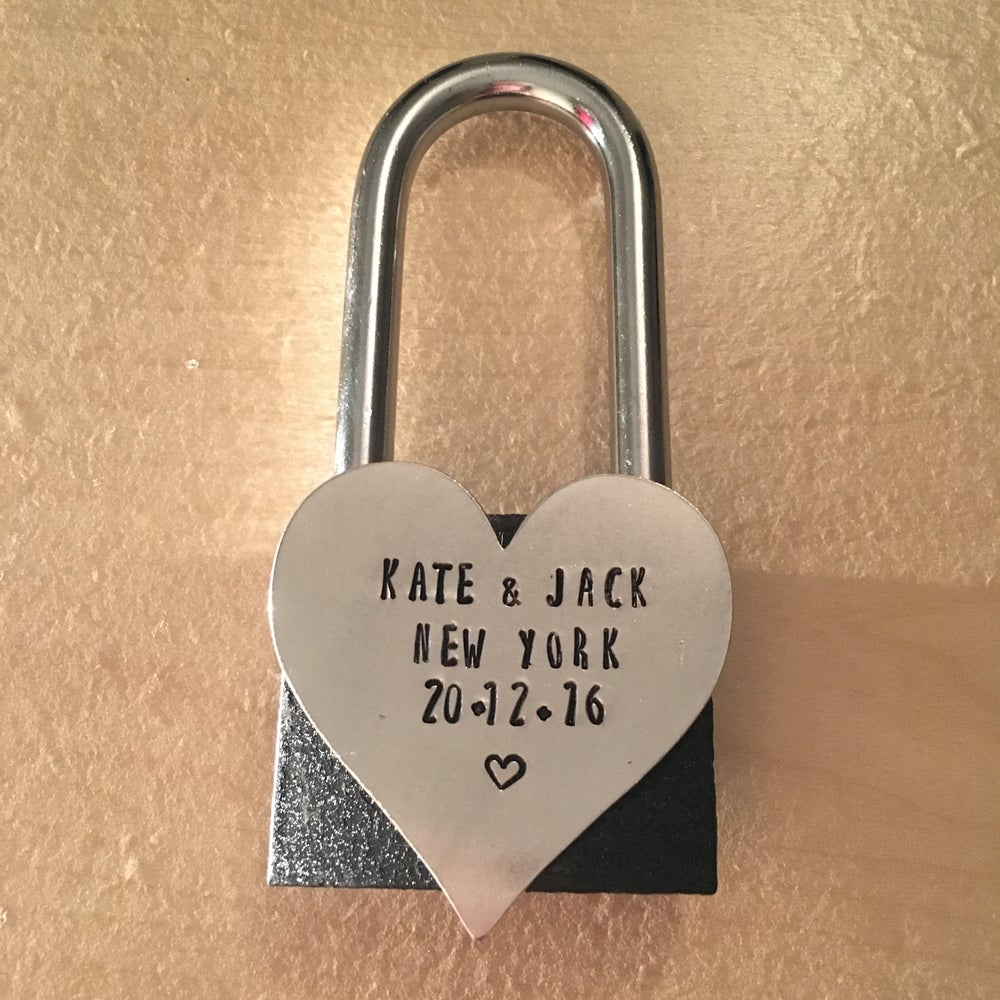Image of Personalised Love Padlock ❤️