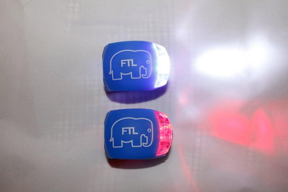 Image of Elephant Bike Lights (Pack of 2) Blue